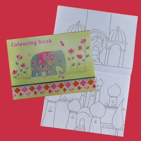 Livre de coloriages grand format India - CREAKIT Loisirs Créatifs