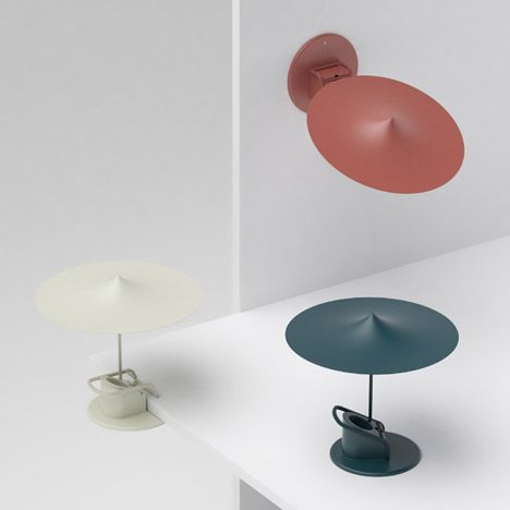 These small clip lamps by French designer Inga Sempé for Wästberg can also stand unassisted or fix to a wall