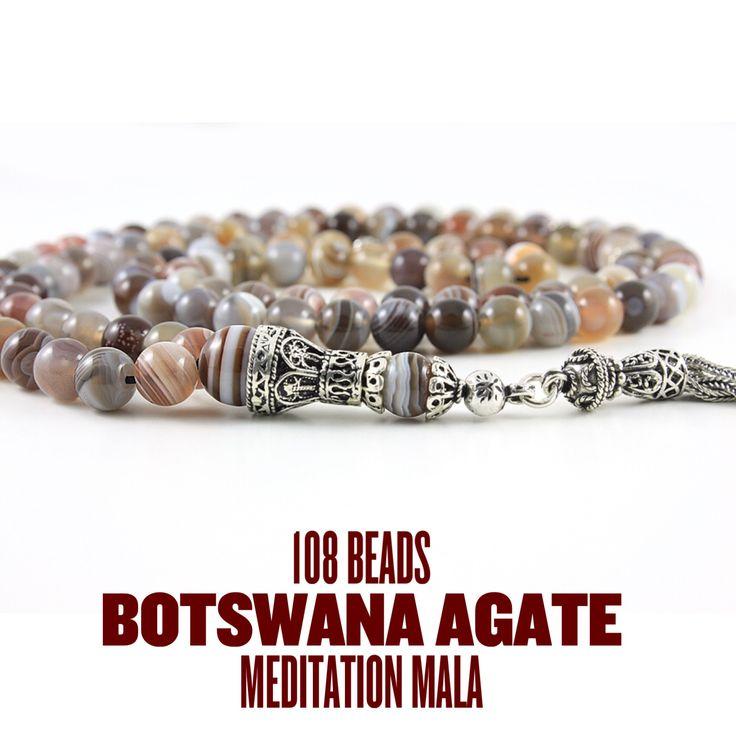 Botswana Agate Mala #agate #meditation #mala