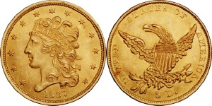 Classic Head Half Eagle $5 US Gold Coin Values