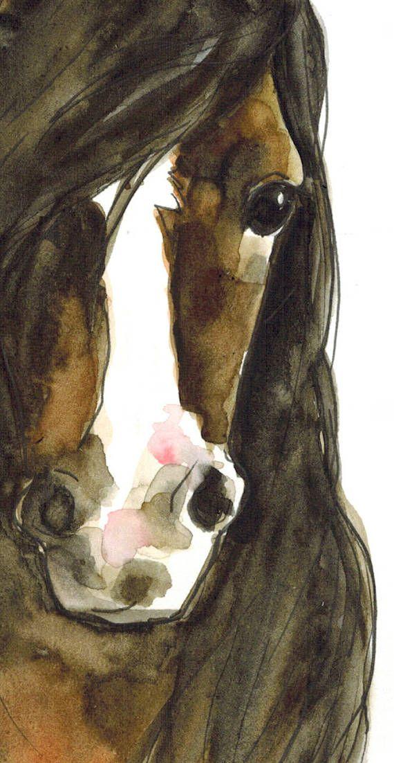 Mokka das Pferd original-Aquarell