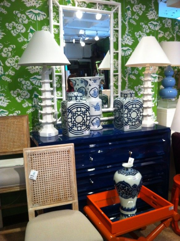 navy lacquer dresser
