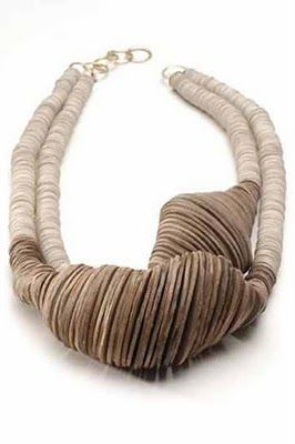 Wood, silver, enamel jewelry/ I am intrigued ...not sure if I like this ....