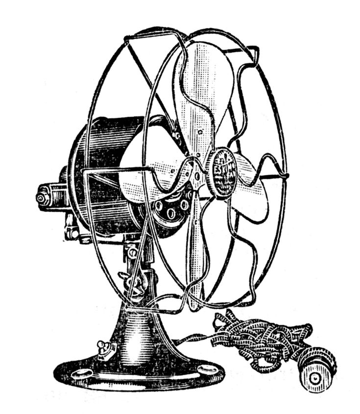 Vintage Clip Art - Electric Fans - Steampunk - The Graphics Fairy