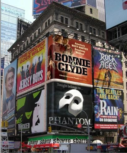How to Succeed… Jersey Boys… Wicked… Bonnie and Clyde… Phantom… Rock of Ages… BROADWAY!!!