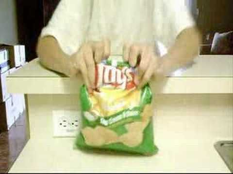 Fold your chip bag in this way to self-seal it