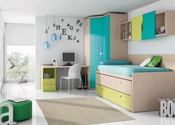 Las 25 mejores ideas sobre habitaciones verdes azules en for Habitacion juvenil nina
