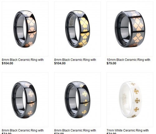 Compared with that of gold, sterling silver or platinum, #ceramic is made of materials that are widely available, the cost is relatively low. However, the value of a ceramic ring for its elegance and durability is much greater than its costs.