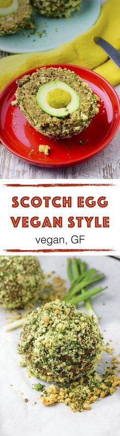 *new* Scotch Egg Vegan Style My Scotch Egg #Vegan Style is fully packed with lots of good ingredients. Rich in protein, vegan, #glutenfree, baked #oilfree instead of fried. It's a comfort food, made from avocados and lentils.