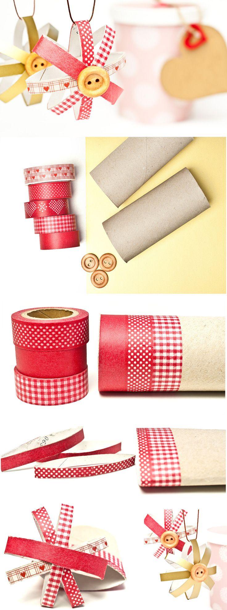 DIY-Deko zum Muttertag basteln - ganz einfach und schnell mit Washi Tape und Toilettenpapierrollen. www.miomodo.de