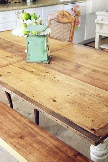 love...    vintage farm table: Mrs.Mckim via Alicia Nichols onto Home Inspiration