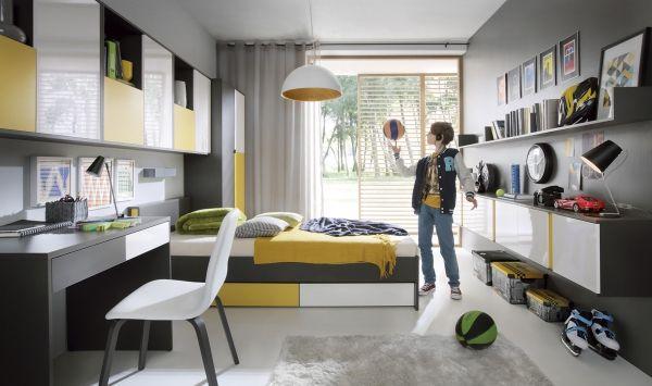 Študentská izba - BRW - Graphic 3 Moderná izba v štýlových farbách, ktorej neodolá žiadny študent.