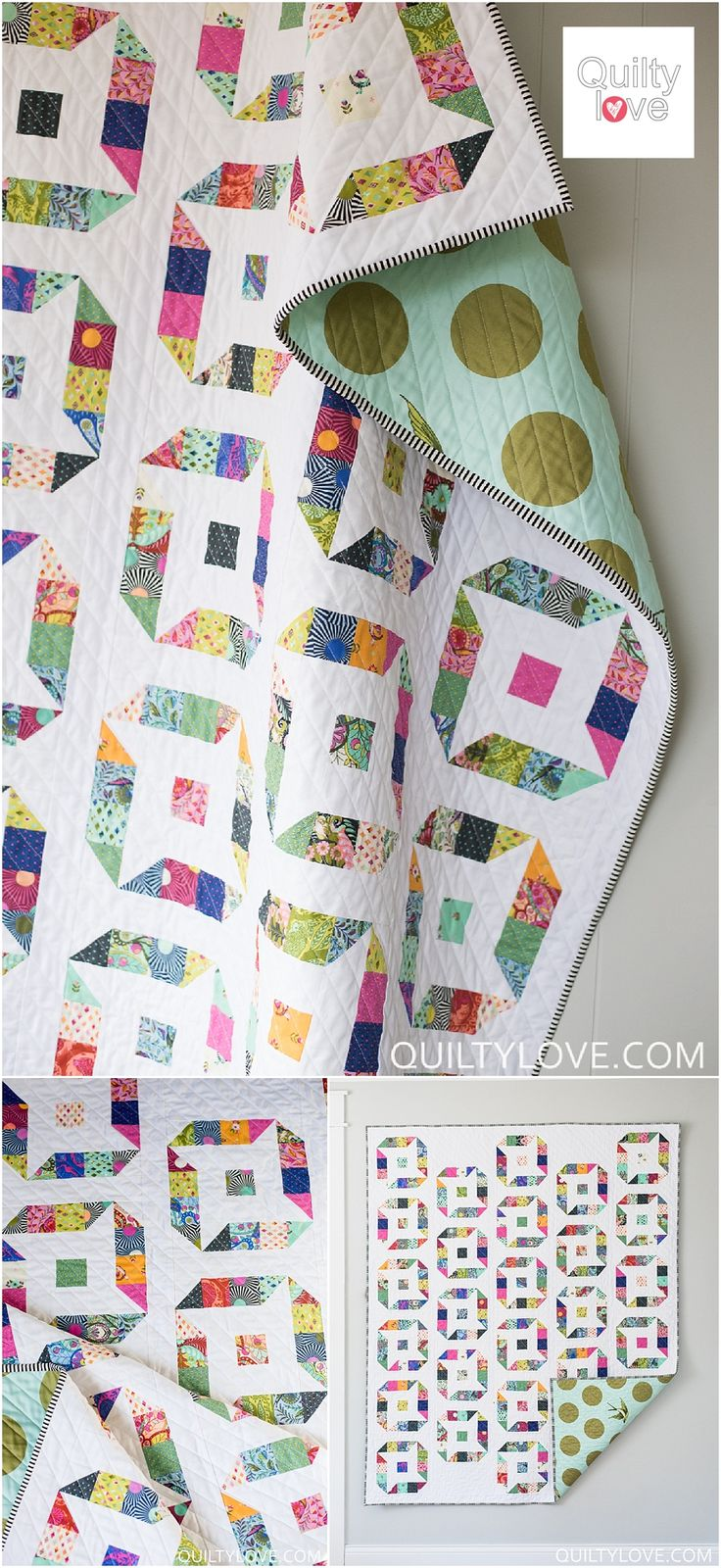 Quilty Love | Ninja Stars Quilt Pattern | http://www.quiltylove.com Jelly roll friendly quilt pattern for the modern quilter.