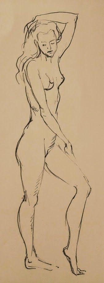 #Дмитрий_Костылев #DmitryKostylew #набросок L005 #figure #Девушка #Обнаженная #Nude
