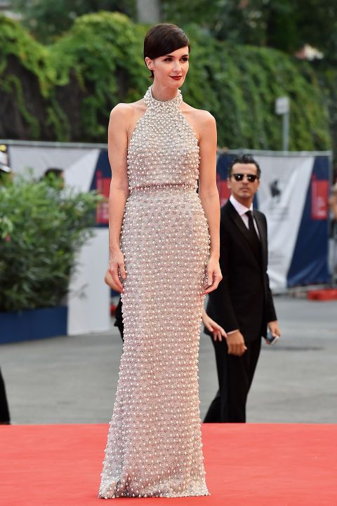 Paz Vega in Ralph & Russo at the 2015 Venice Film Festival. See all the stars' gowns, dresses, and jewels from the premieres.