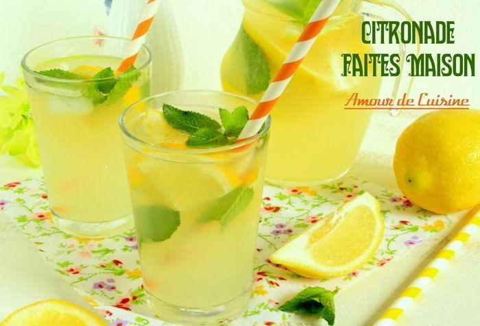 citronnade ou limonade au citron faite maison - Amour de cuisine