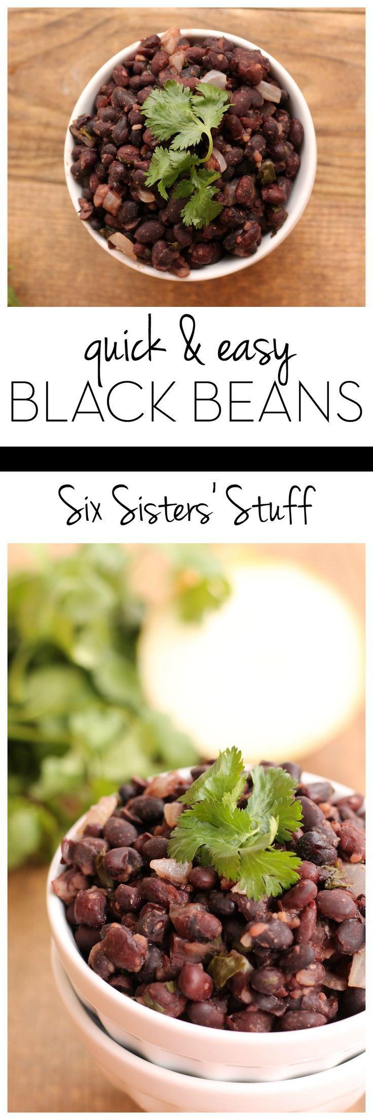 These black beans make a great side dish or topping for all your favorite Mexican dishes   SixSistersStuff.com