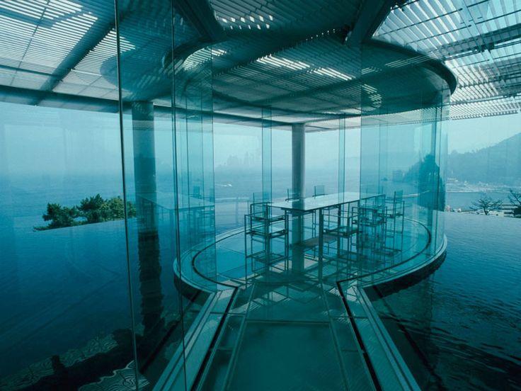 breath taking Water/Glass House By Kengo Kuma