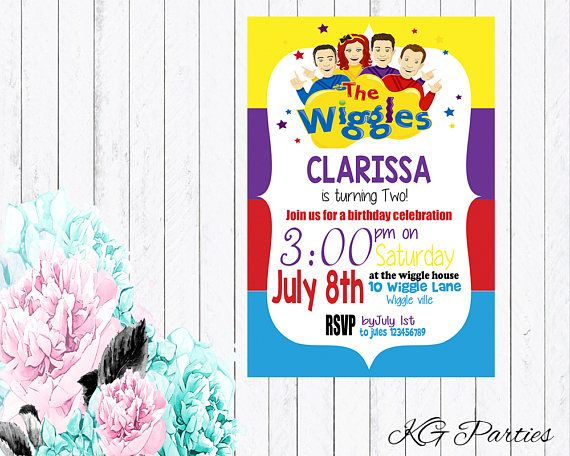 Wiggles Invitation Birthday Invitation The Wiggles Birthday