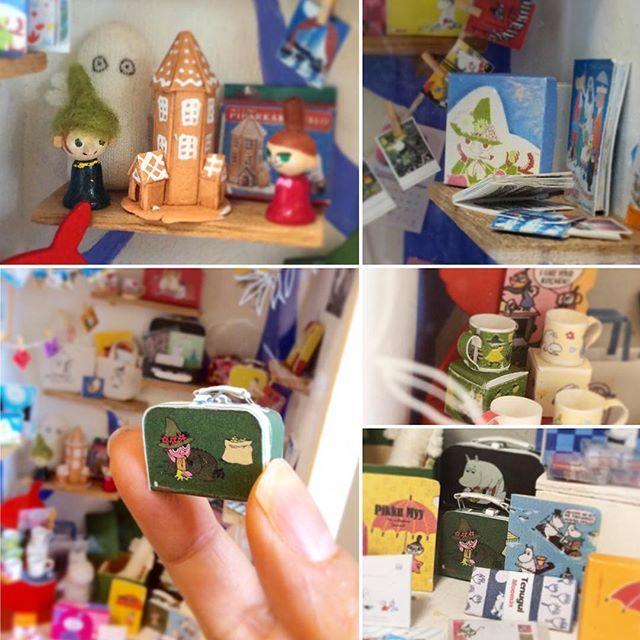 1/12scale all handmade miniatures #miniaturemoominshop #ミニチュアムーミンの店 用に作った1/12サイズのスナフキングッズ。 ほとんど紙でできてます。 #ミニチュア #ムーミン #ペーパークラフト #ハンドメイド #スナフキン #miniature #moomin #moomintroll #moominmuseum #snufkin