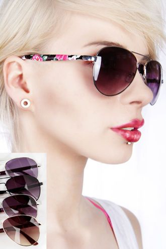 Floral sun glasses for every girl!