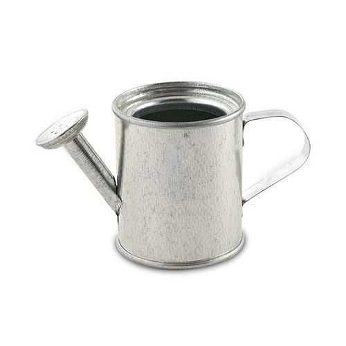 Miniature Silver Metal Watering Can Favors - The Knot Shop