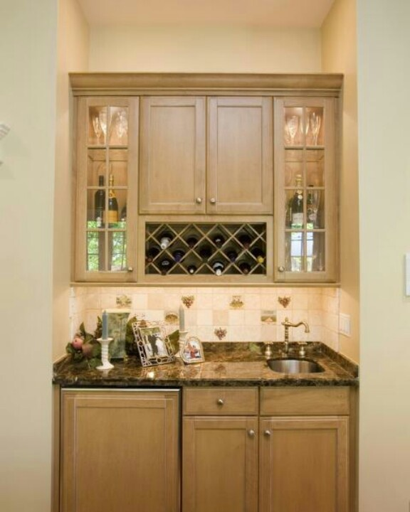 29 Best Small Basement Wet Bar Ideas Images On Pinterest: Basement Idea. Small Sink Bar Area.