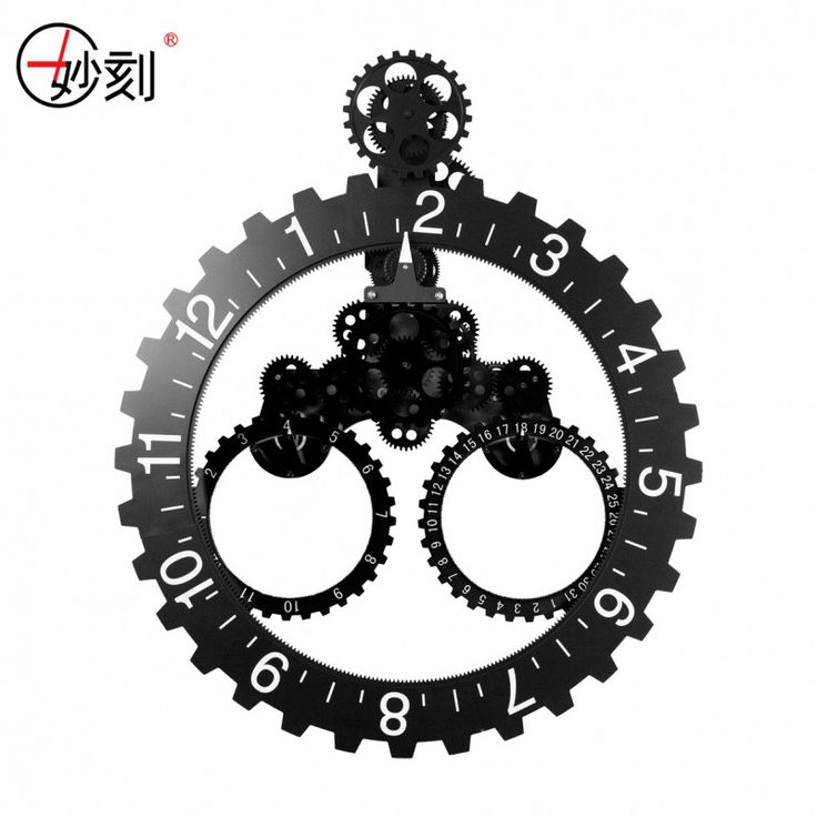 DIY Assembly Large Gear Wall Clock Fashion Cool Creative  Archaize Metal Wall Clock Quartz Silent Wall Clock Decorative Wall 23