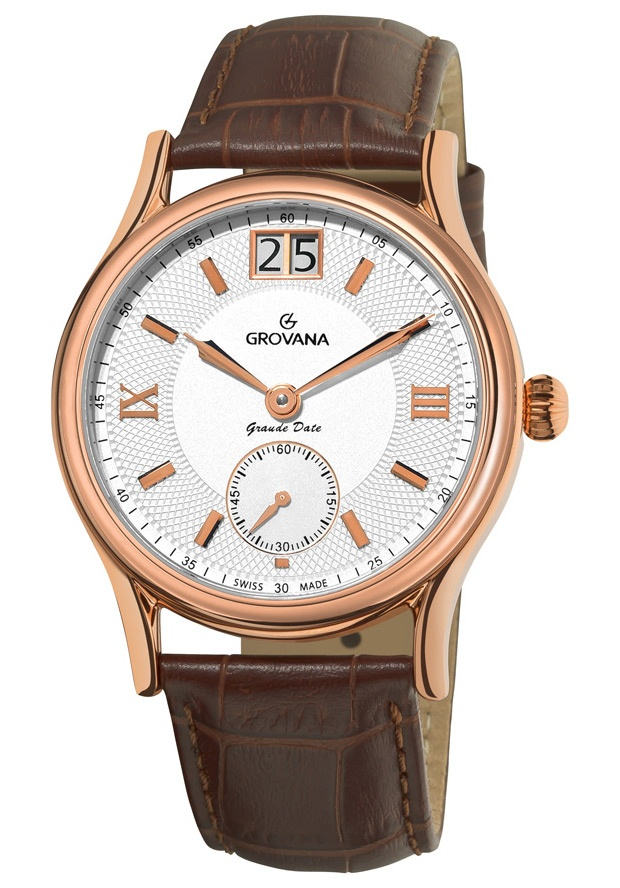 Price:$414.77 #watches Grovana 1725.1562, Grovana is a firm that has made a name for itself in the Swiss watch making industry through innovation and flexibility. Up to the 1970s it made mechanical watches that were always state of the art.
