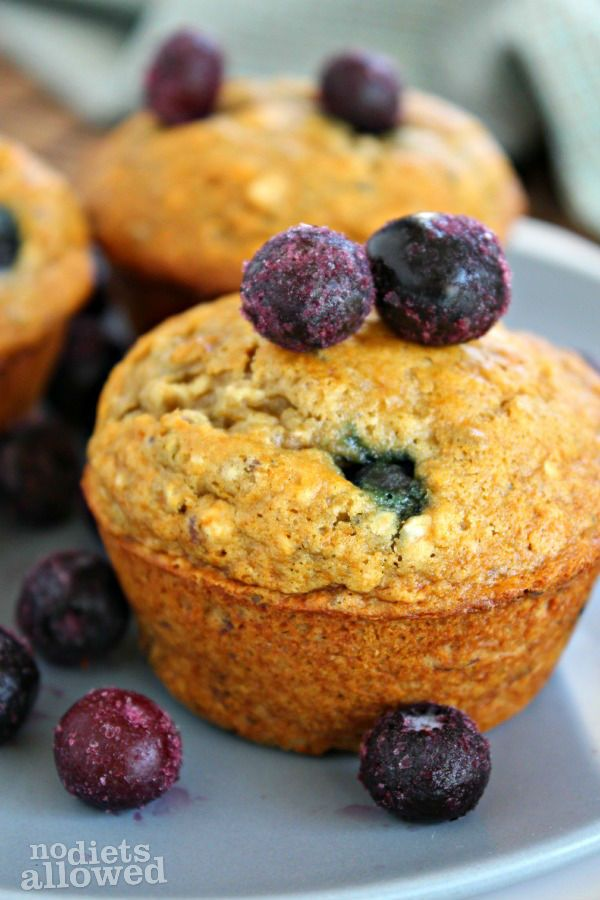 Healthy Blueberry Banana Muffins | Fabulous Healthy Food | Pinterest