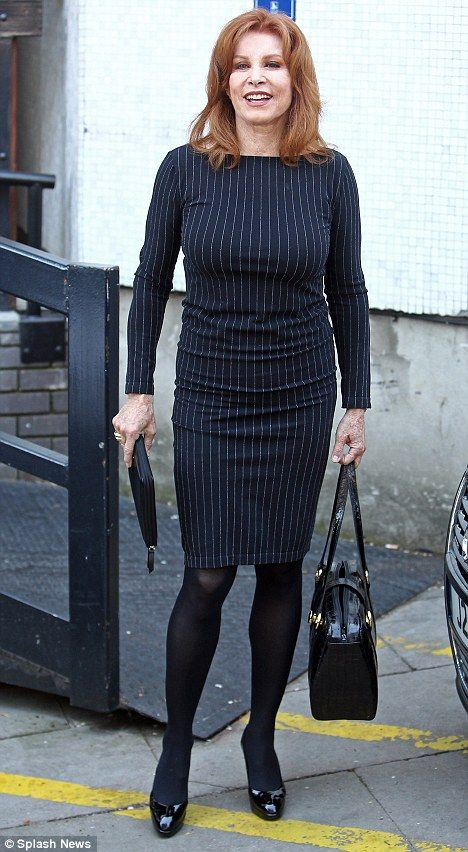 Fit and fabulous: Stephanie Powers, who is 68-years-old, cut a fashionable figure today during a promotional blitz in London