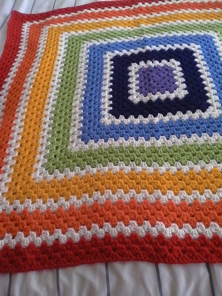 Granny rainbow square