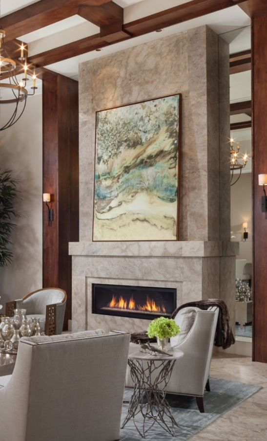 74 best images about living room ideas on pinterest for Luxury fireplace designs