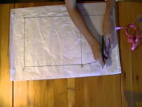 Tutorial: Come fare una gonna dritta partendo dal cartamodello - parte 1, via YouTube.