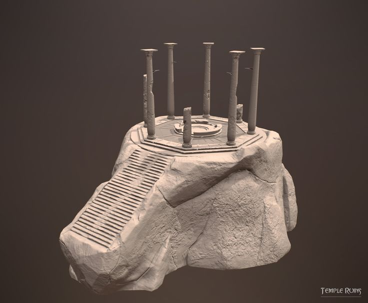ArtStation - Temple Ruins - Environment Sculpt , Vicky Seauta