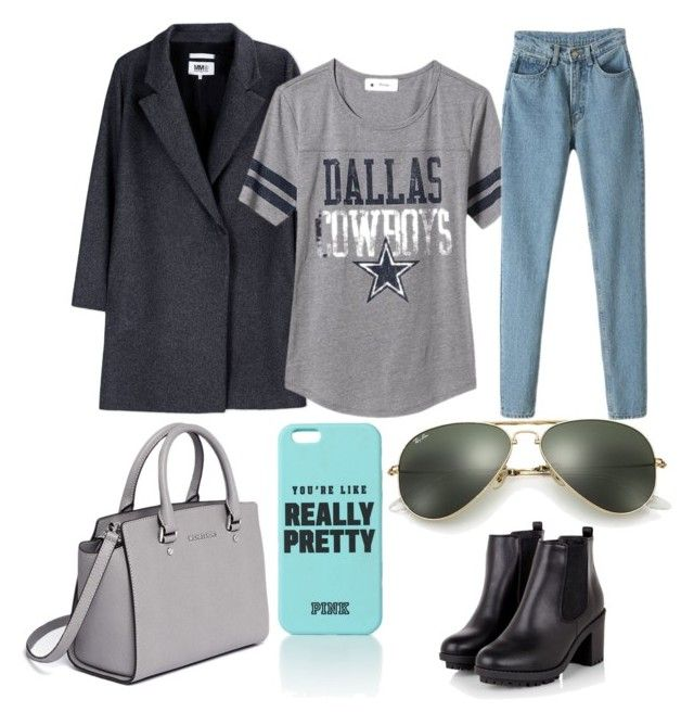 """""""For hanging out ☺️"""" by oktaeprimsus on Polyvore featuring MM6 Maison Margiela, Old Navy, Ray-Ban and MICHAEL Michael Kors"""