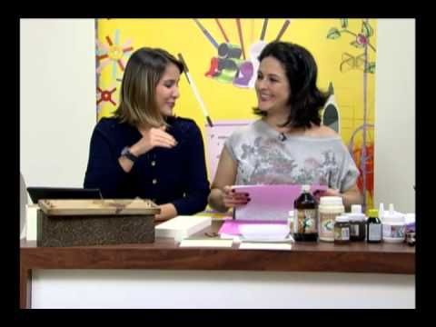 Mulher.com 13/07/2012 - Marisa Magalhães - Caixa de vinho com papel textura 01 - YouTube