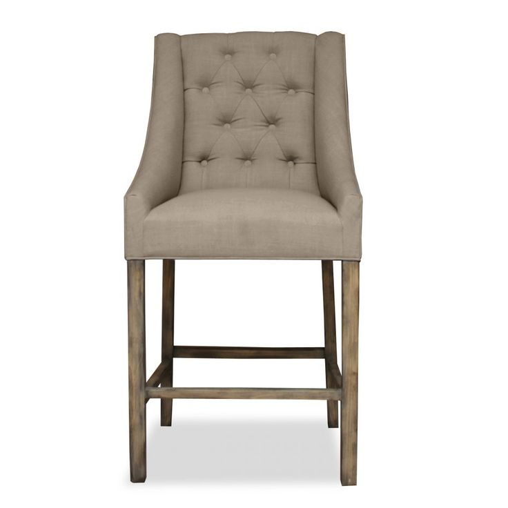 Kitchen Extraordinary Upholsterd Bar Stools Taupe Polyester Fabric Solid  Wood Frame Material Distressed Brown Finish Tufted. Upholstered ... - Best 25+ Upholstered Bar Stools Ideas On Pinterest Upholstered
