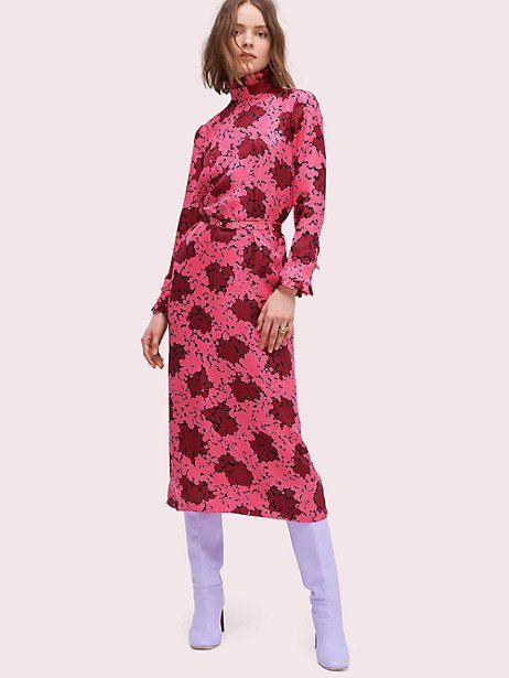 Kate Spade Bubble Dot High-neck Dress, Rhubarb Jam - Size 14 ... c1c58d8e788