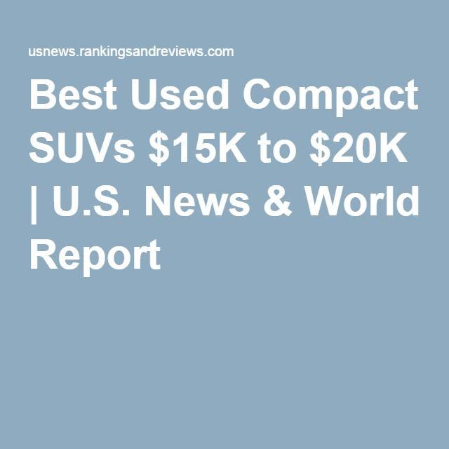 Best Used Compact SUVs $15K to $20K | U.S. News & World Report