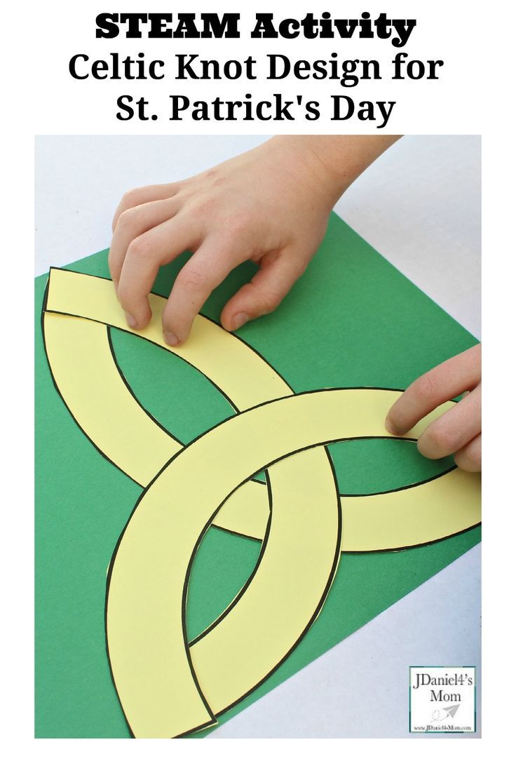 STEAM Activity Celtic Knot Design for St. Patrick's Day Pinterest