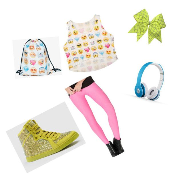 "jojo siwa inspired outfit"" by russellpaige on Polyvore"