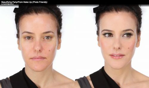 Lisa Eldridge - party makeup video, before and after. This girl does the Chanel official training vids