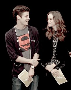 Grant Gustin and Danielle Panabaker gif