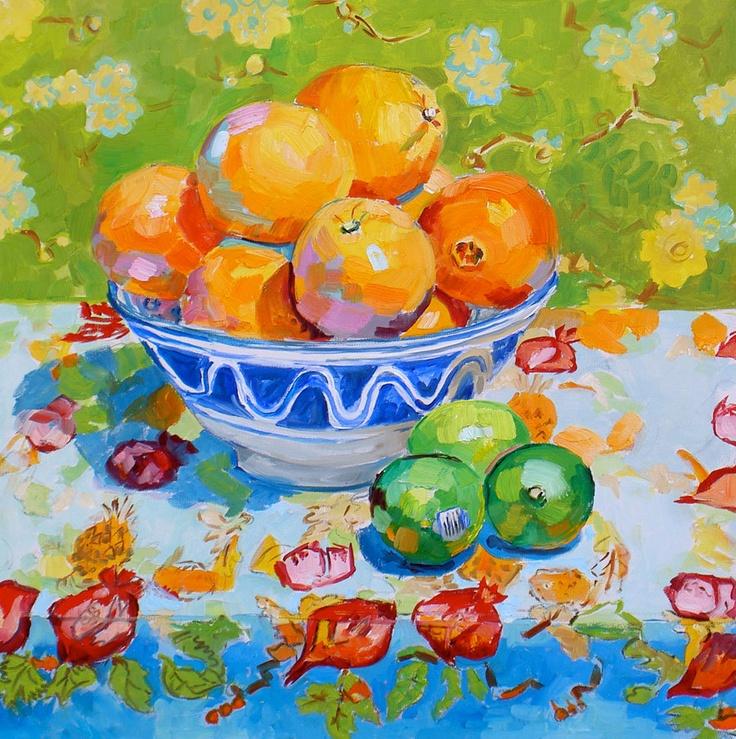 Margaret Owen still life orange and limes