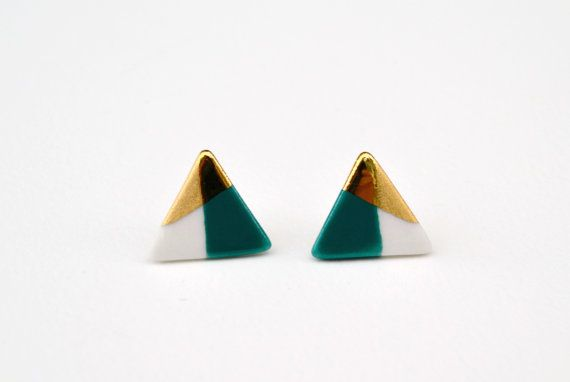 White and emerald gold-dipped earrings. Perfect for @Alt Summit's emerald party, don't you think? #altchat