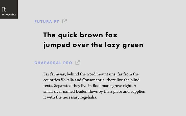 more font pairing with examples. typefaces appear to be a limited selection from google and adobe typekit