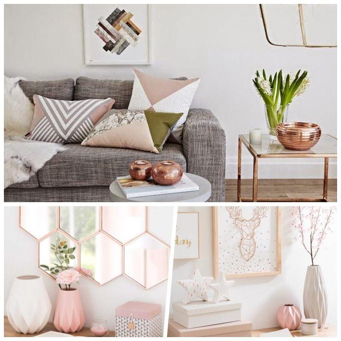 1001 Ideen Fur Eine Moderne Und Stilvolle Wohnzimmer Deko Zimmer Gestalten Rosegold Deko Wohnzimmer Design