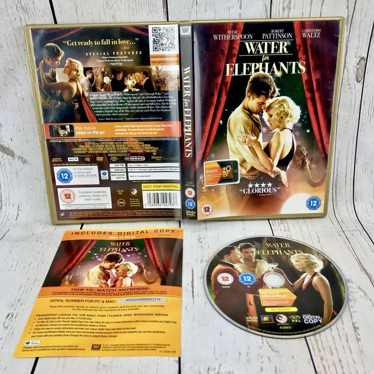 Water For Elephants DVD 2011 region 2 Robert Pattinson Reese Witherspoon movie