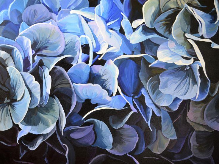 'Hydrangeas'  120 x 90 cm Jenny Fusca Paintings